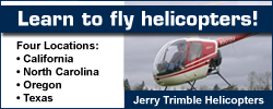 Learn to fly at Jerry Trimble Helicopters. Please see our website and call us for more information.