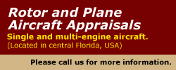 Rotor and Plane Appraisals,  click for more details.