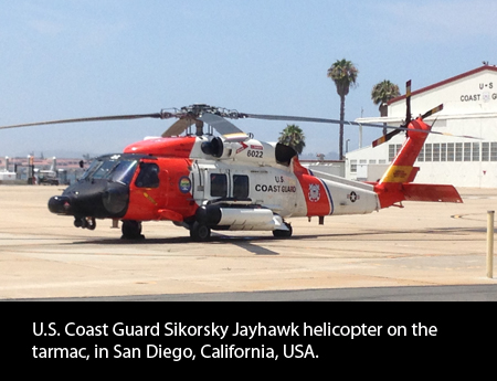 Sikorsky Jayhawk helicopter. Photo by Helicopter Links.