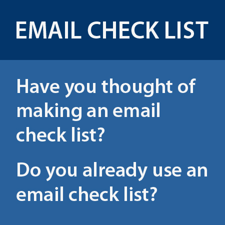 Do you have an email check list?
