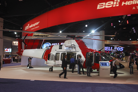 Bell 525 Relentless mock-up at Heli-Expo 2014.