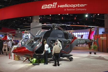 Bell 429 helicopter on display at Heli-Expo 2014.