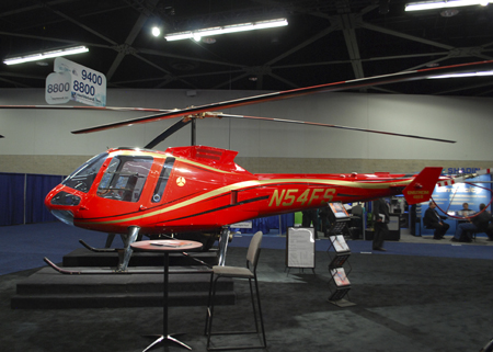 Enstrom 480B on display at Heli-Expo 2014.