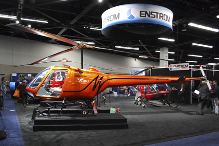 Enstrom TH180 trainer helicopter unveiled for the first time at Heli-Expo 2014.