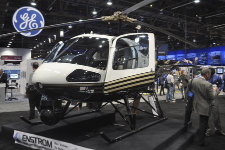 Enstrom 480B helicopter on display at Heli-Expo 2013.