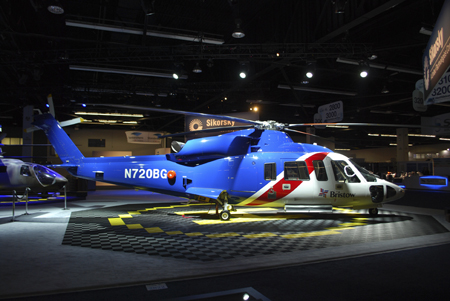 Sikorsky S-76D at Heli-Expo 2014.