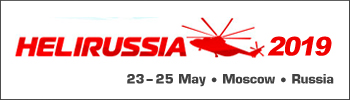 Heli-Russia 2019, 23-25 May, Moscow, Russia.